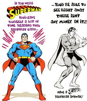 My Comic Board Banners And More Superman And Dc Greeting Cards 6