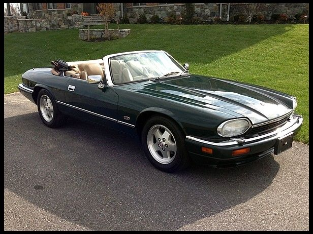 I Once Dated A Guy With A 1995 Jaguar Xjs Convertible In Tan And Cream That Was A Dream Jaguar Xjs Convertible Classic Cars Jaguar Car