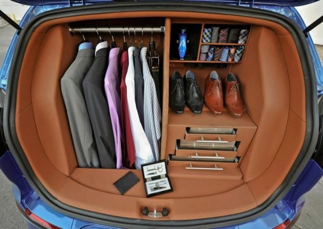 Marvelous Car Trunk As A Closet | TIMBER TRAILS: Enabling Cabin, Cottage, And Tiny