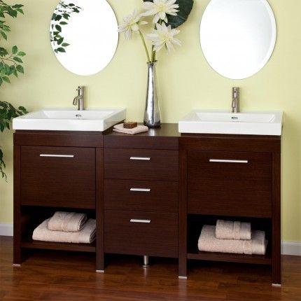 """59"""" Dumont Double Sink Vanity - Wenge"""