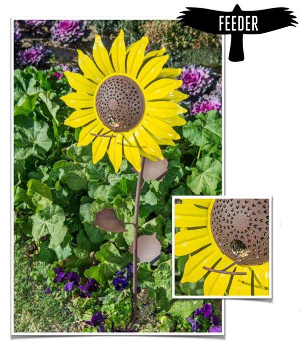 Desert Steel Sunflower Bird Feeder 409 103 Bird Feeders Hanging Bird Feeders Giant Flowers