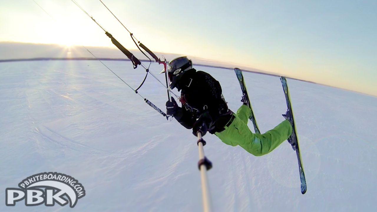 PBK Flysurfer Speed 4 8m Deluxe Snowkiting Kite Skiing