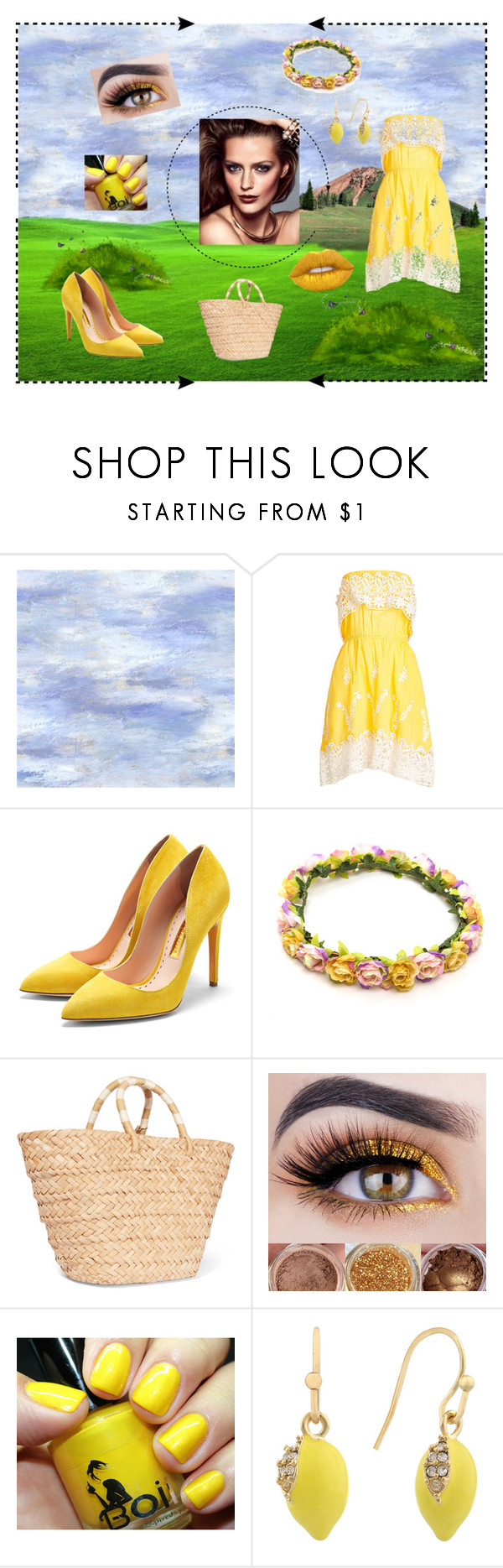 """Spring colours"" by beautiful-madnes ❤ liked on Polyvore featuring Christophe Sauvat, Rupert Sanderson, Kayu, Liz Claiborne and Lime Crime"