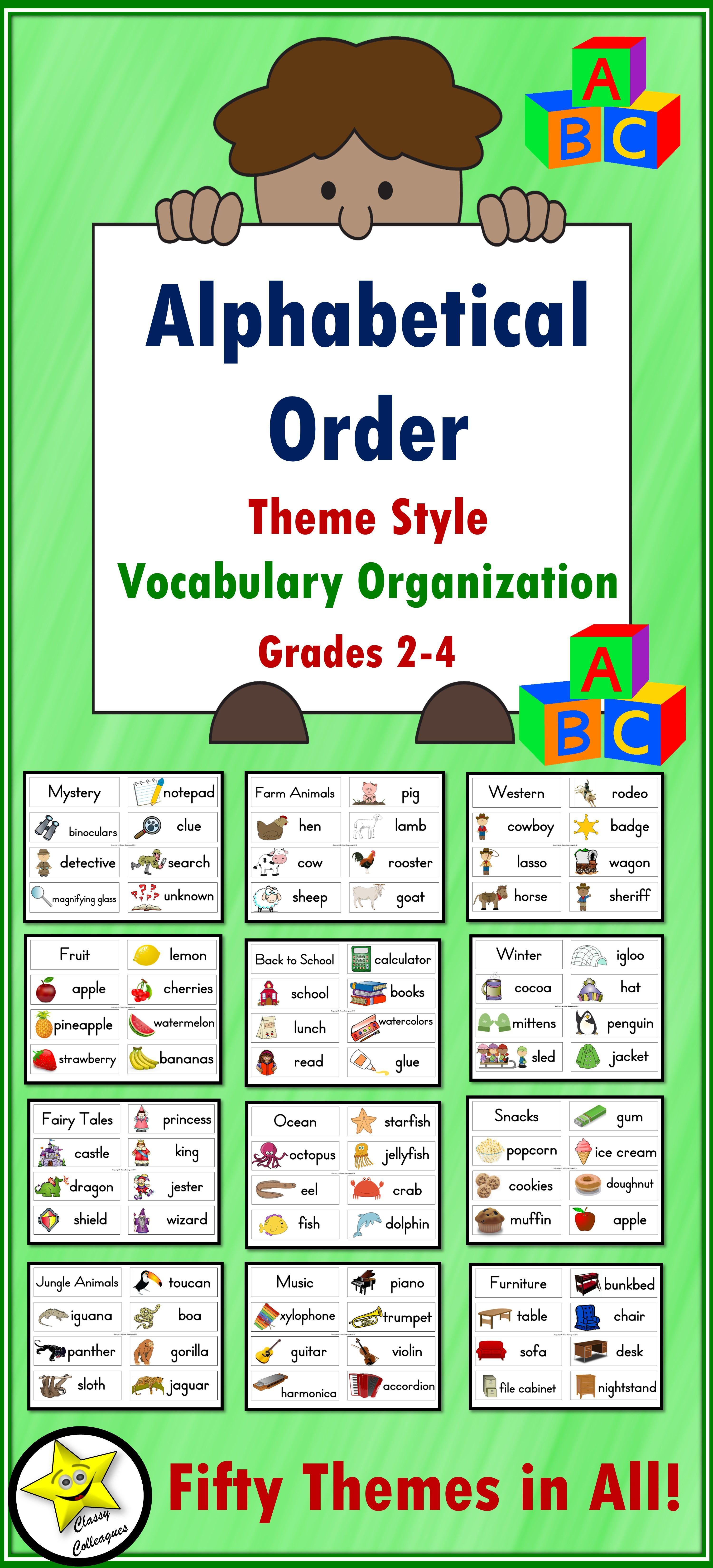 Alphabetical Order Theme Style