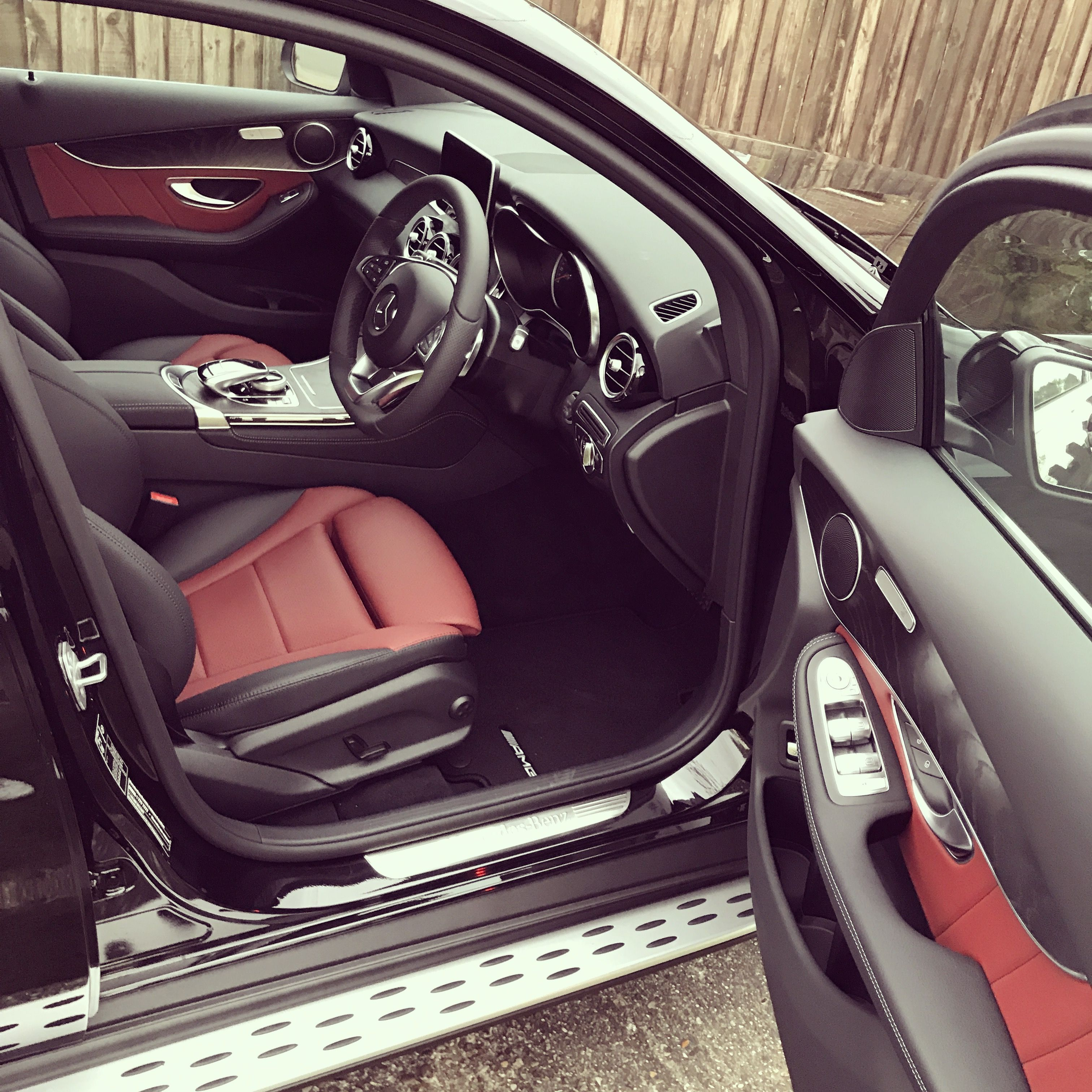 Mercedes Glc 250d Amg Line Coupe Cranberry Red Interior