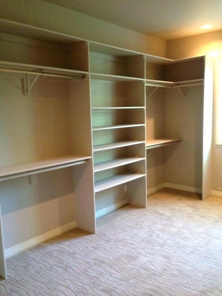 Built in closet systems modest plain closet planning