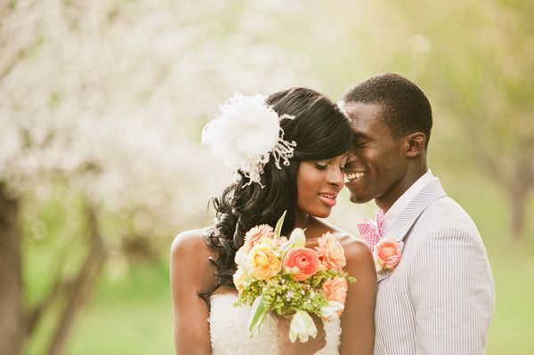 Preppy Styled Shoot Featuring African American Couple by David Newkirk