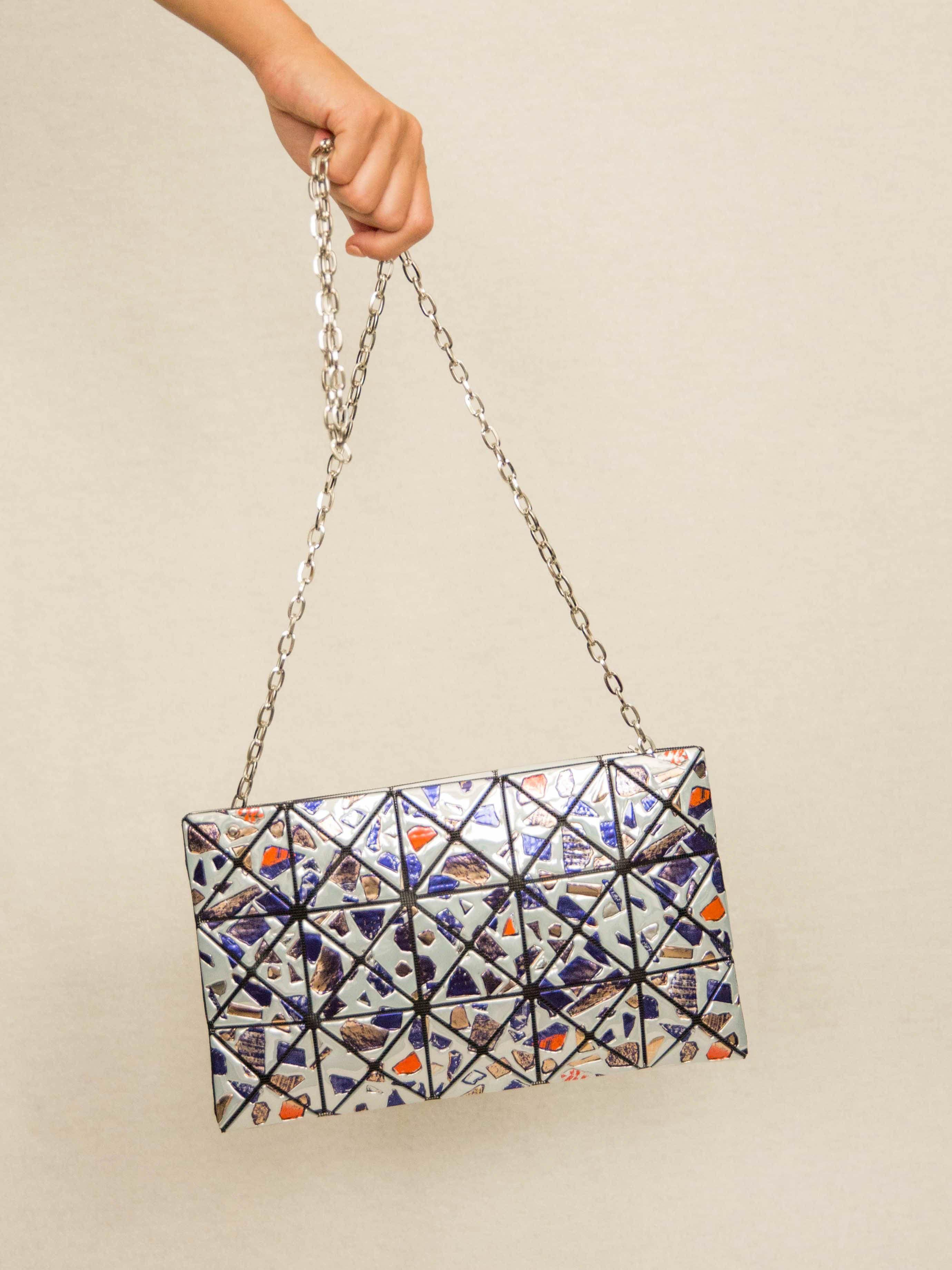 7a2dd02b0ada BAO BAO ISSEY MIYAKE Platinum Gem Crossbody Bag with Chain