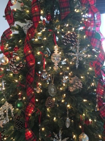 Flannel Plaid Ribbon Christmas Decorations Holiday