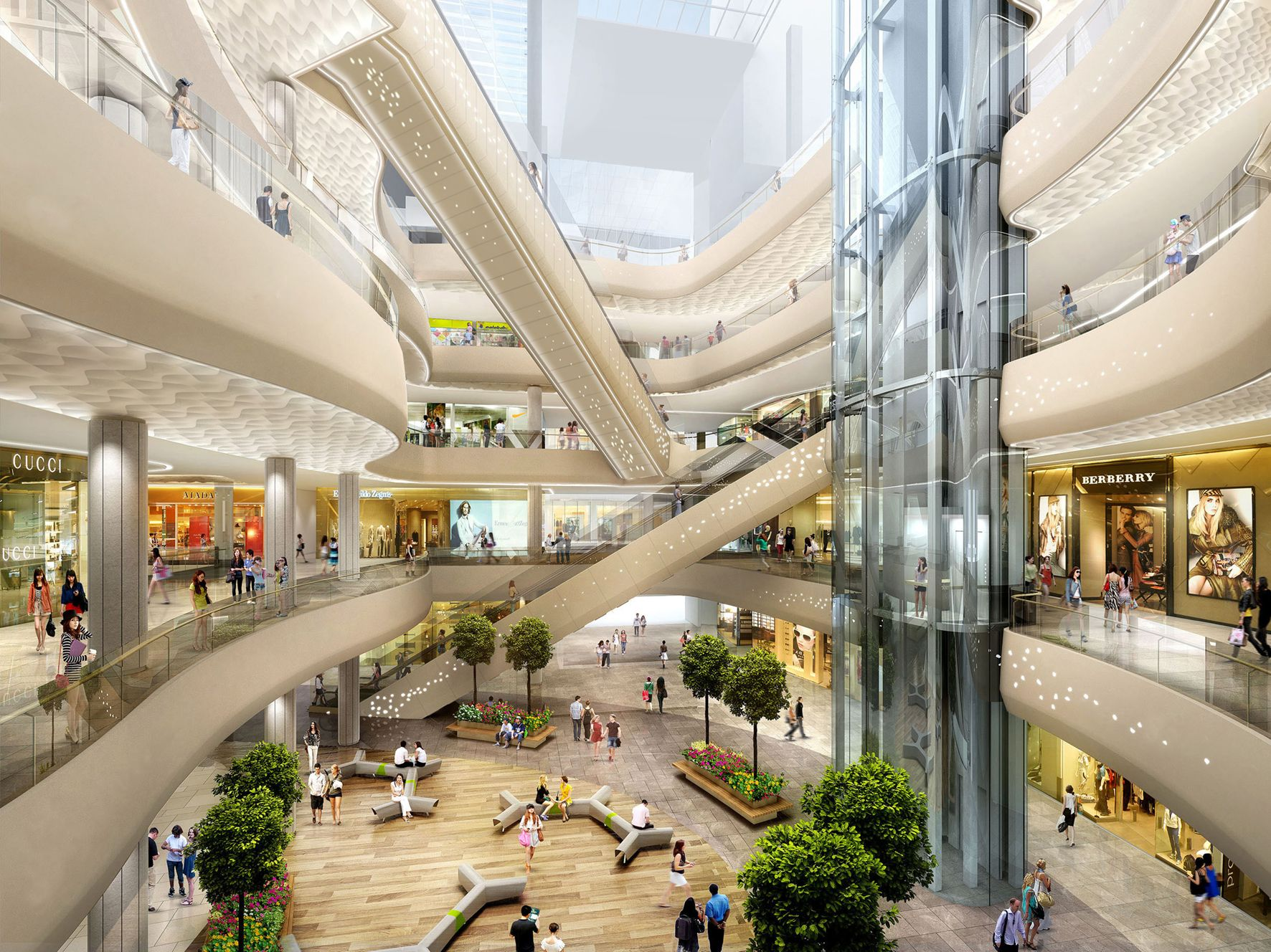 Lotte world mall benoy m m architecture markets for Interior design shopping