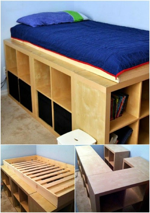 Cadre Lit Rangement 21 Diy Bed Frame Projects – Sleep In Style And Comfort