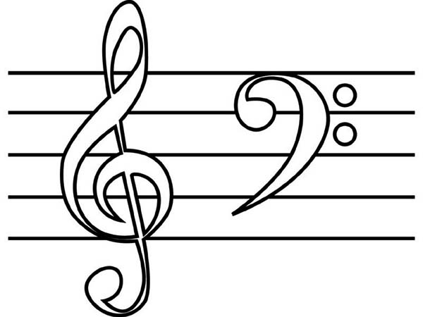 Treble Clef And Bass Clef Coloring Page Netart Coloring Pages Free Coloring Pages Swear Word Coloring