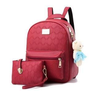 Fashion Women Leather Backpack Teenage Backpacks For Girls Vintage Feminine Backpack Bag Clutch Sac a Dos Femme Mochila Bolsas