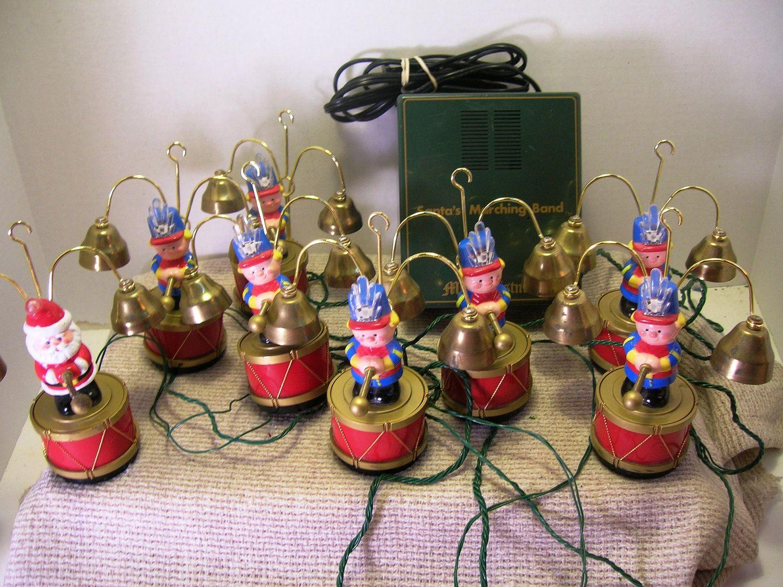 Childhood Memories - Mr. Christmas' Santa's Marching Band bell ...