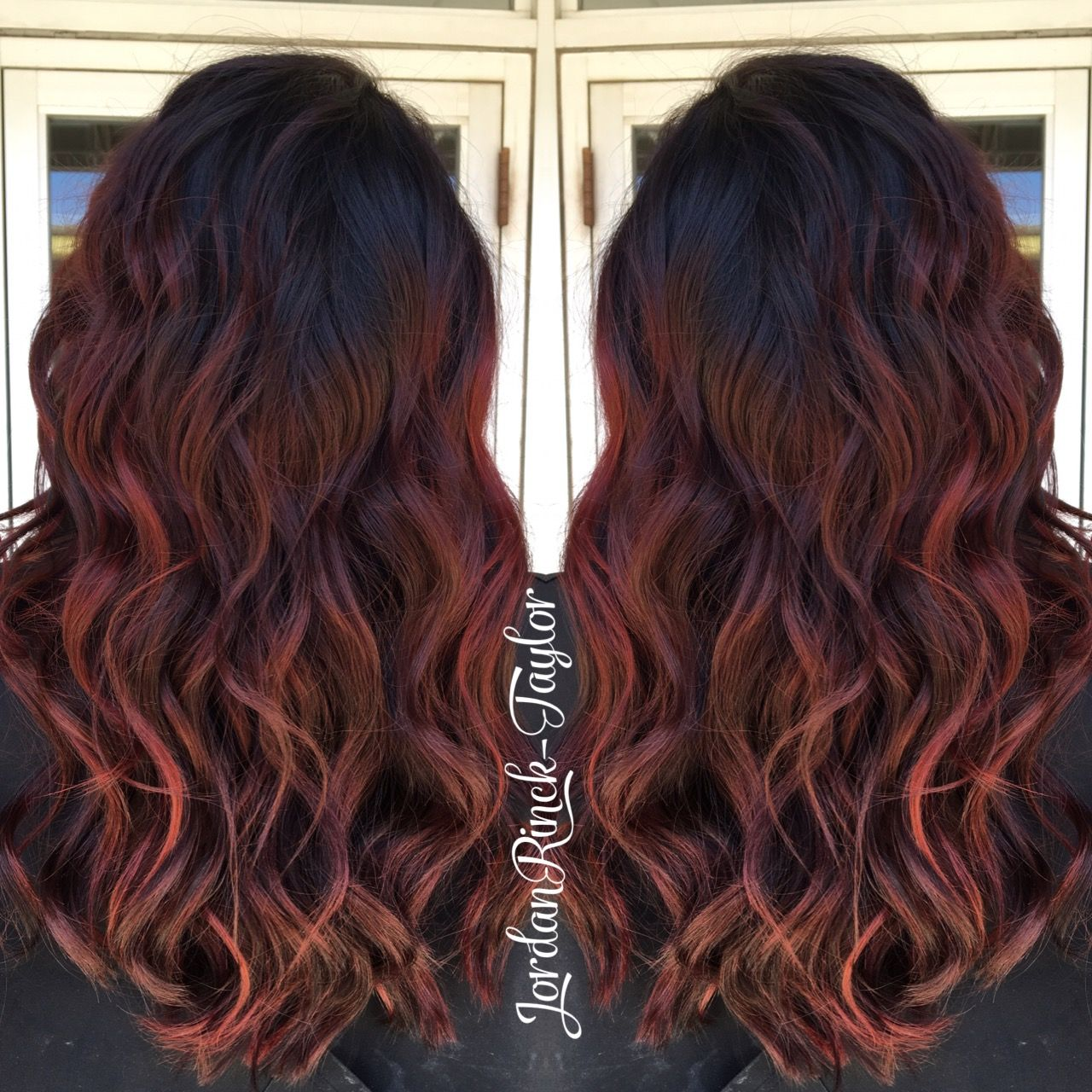 Deep Red Hair With Dark Shadow Roots Instagram Jordanrincktaylor Red Hair Dark Roots Shadow Roots Hair Roots Hair