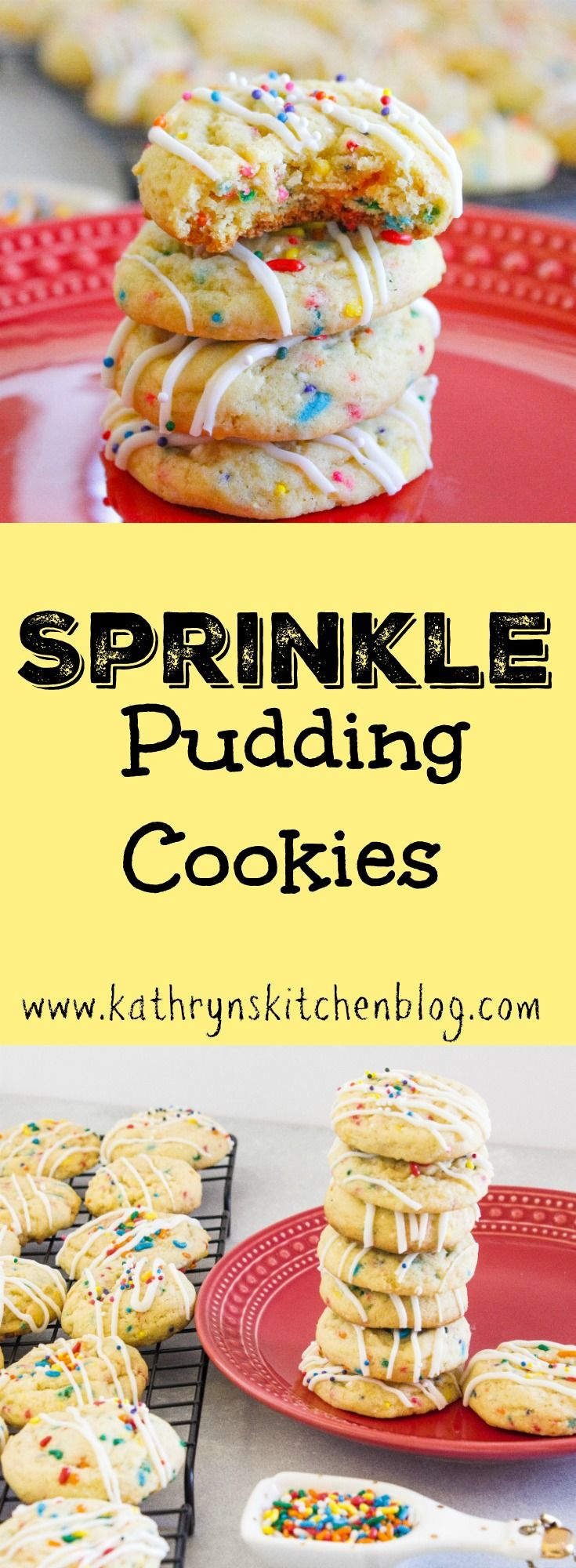 Sprinkle Pudding Cookies// Kathryn's Kitchen Blog