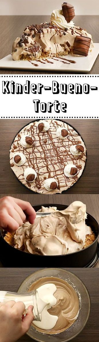 Kinder Bueno Torte So Geht S Backen Kuchen Backen Und Kuchen