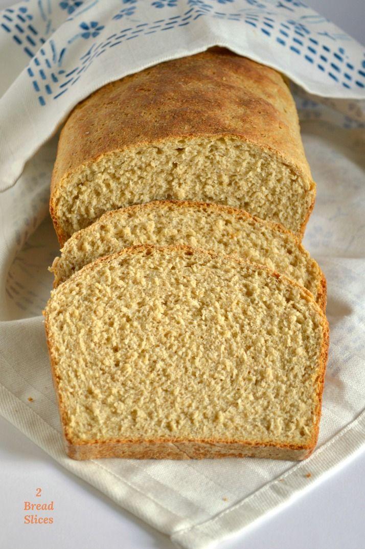 Pan De Molde Integral De Avena 2 Bread Slices Pan Integral Casero Recetas Receta Pan Integral Pan De Avena Recetas