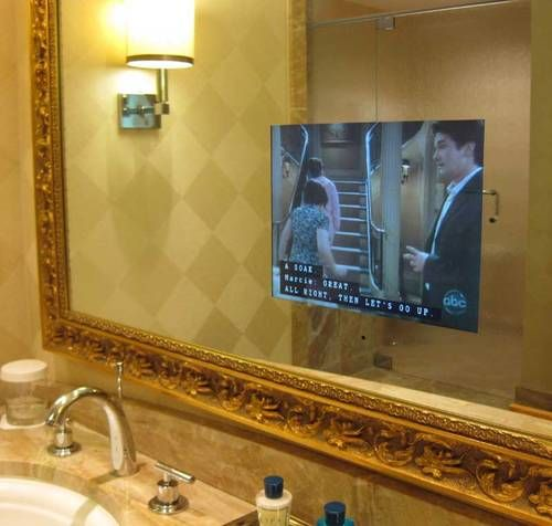Television In The Bathroom Mirror Trump Las Vegas