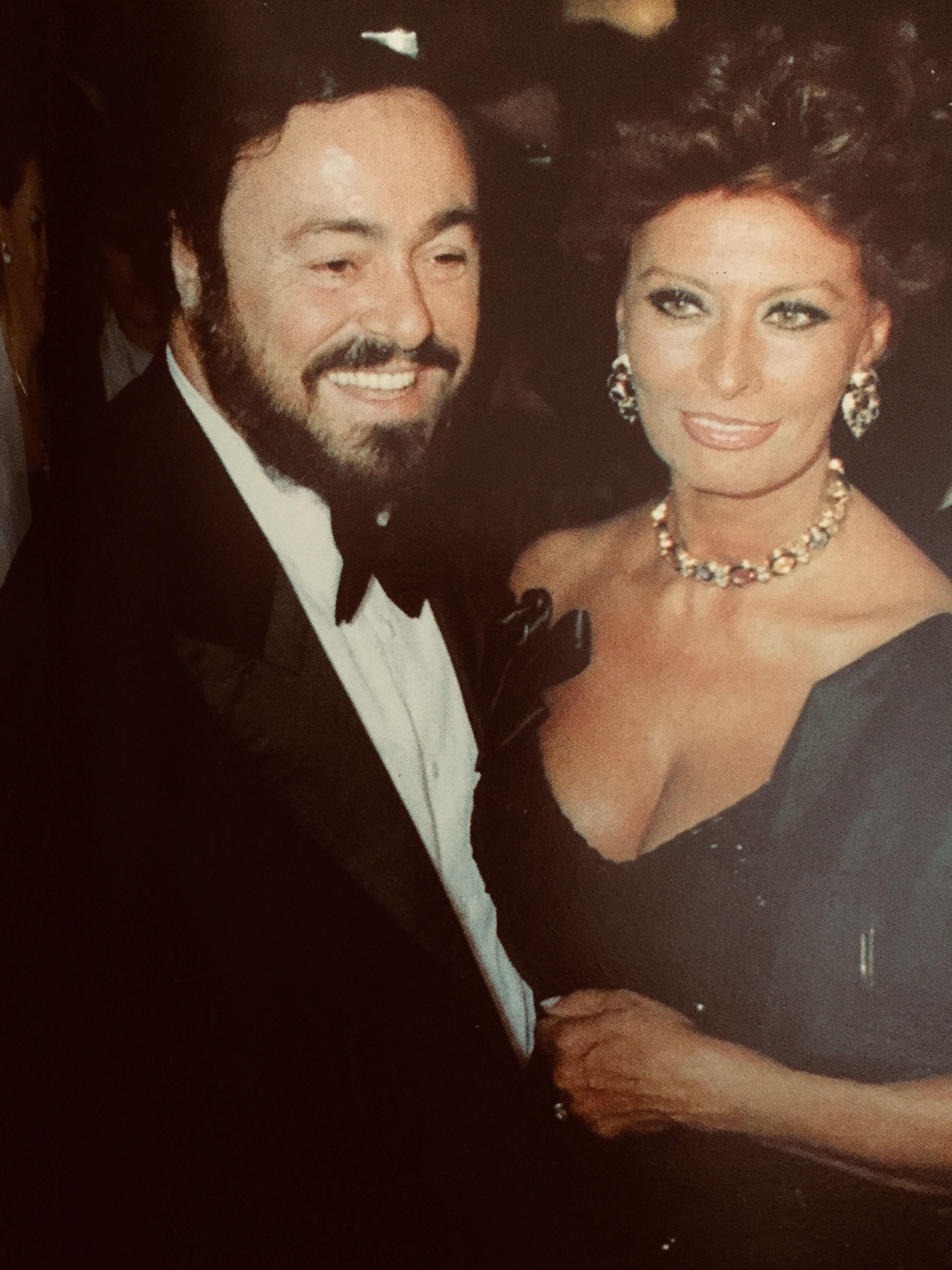 Luciano Pavarotti Sophia Loren Sophia Loren Sofia Loren Classic Hollywood Movie Stars