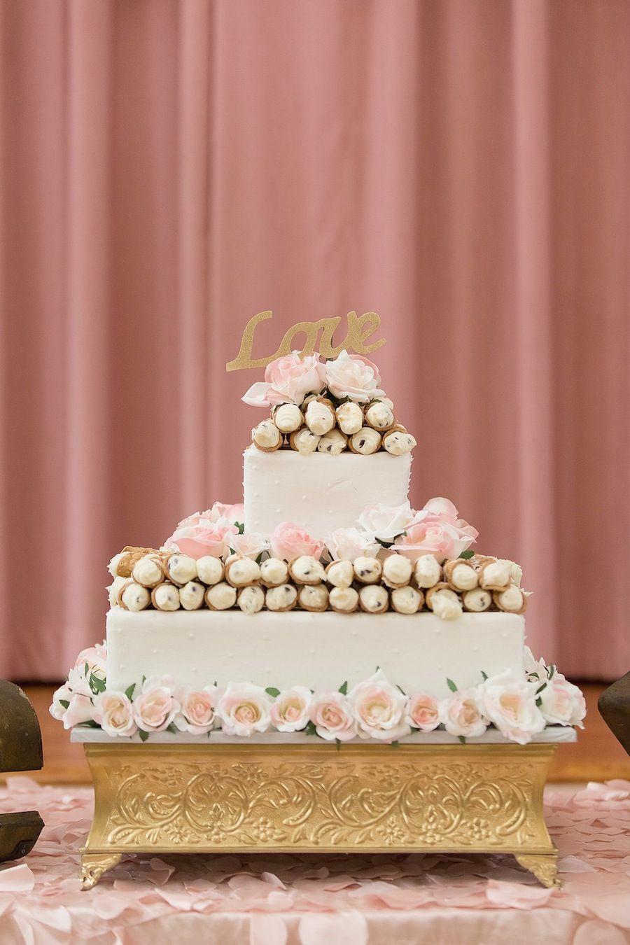 Cannoli Wedding Cake | Italian Wedding Cake | Weddings at SPWC ...