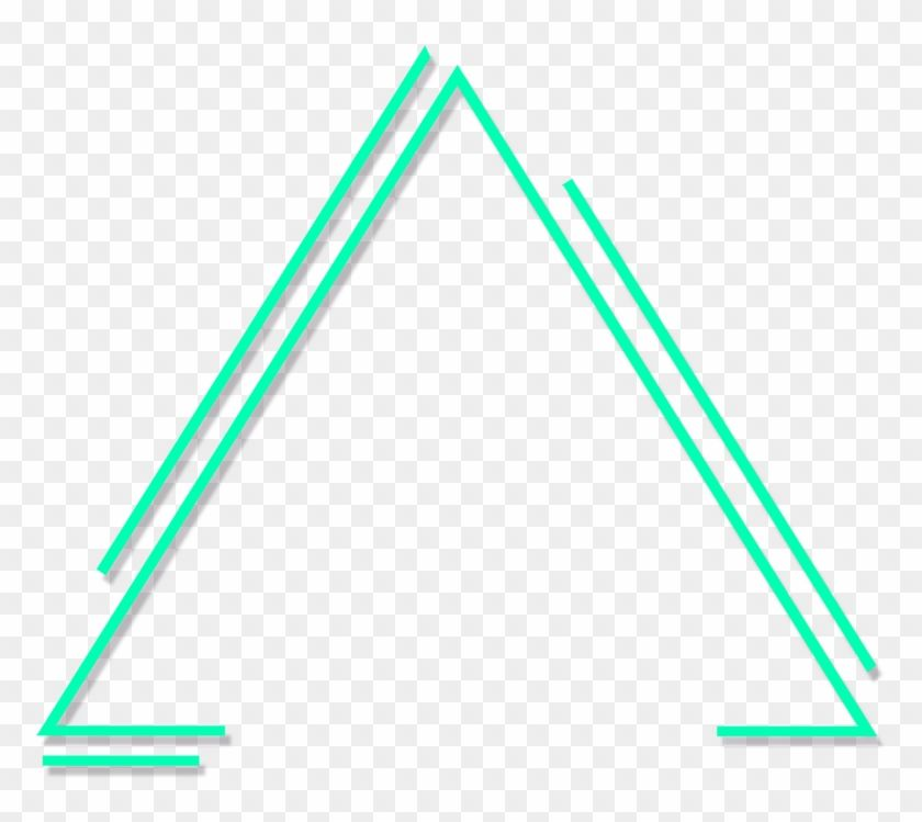 Find Hd Green Lines Triangle Neon Glow Freetoedit Triangulo Figuras Geometrica Png Transparent Png Geometric Triangle Triangle Png Images For Editing