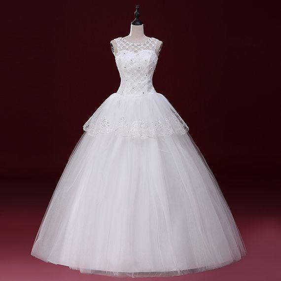 2017 새로운 패션 신부 드레스, 웨딩 브라 치 한국어 단어 어깨 숄더 웨딩 드레스 큰 야드 봄
