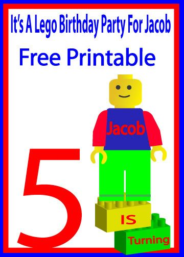 photograph about Lego Birthday Card Printable known as lego birthday card boys Jacob Puppetown-productions lengthy
