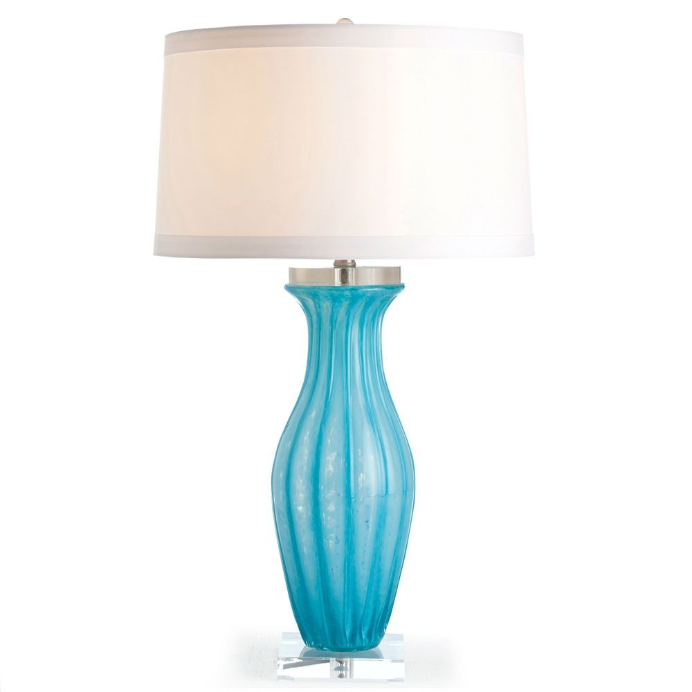 Turquoise Aqua Glass Lamp Courtesy of InStyle-Decor.com Beverly Hills Inspiring & supporting Hollywood interior design professionals and fans, sharing beautiful luxe home decor inspirations, trending 1st in Hollywood Repin, Share & Enjoy