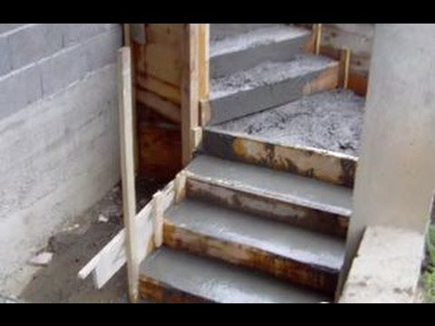 Treppe selber bauen beton. Treppe betonieren. Treppe