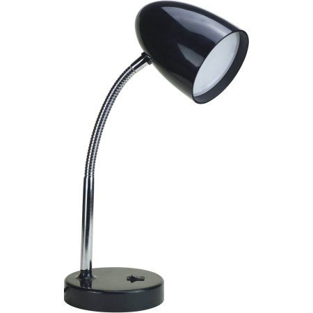 Mainstays Led Desk Lamp Flexible Metal Gooseneck Black Walmart Com Desk Lamp Led Desk Lamp Led Desk Lighting