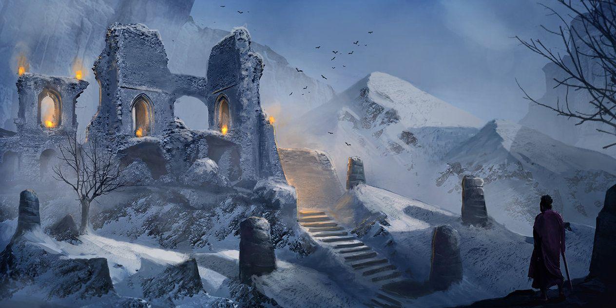 Winter Ruins by LMorse on deviantART