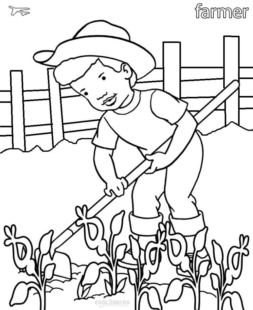 Community Helper Coloring Pages Sach To Mau Hinh ảnh Nong Dan