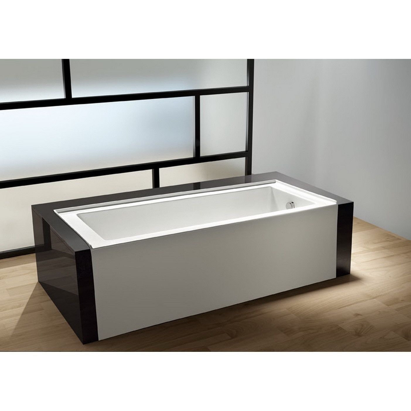 Contemporary soaking tub is a great choice when looking for a drop ...