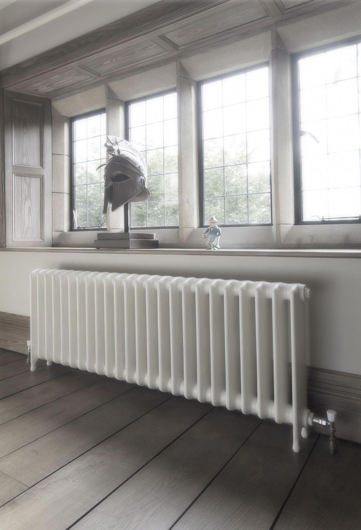 Designer Living Room Radiators: School Style Cast Iron Radiator Reclaimed And Refurbished