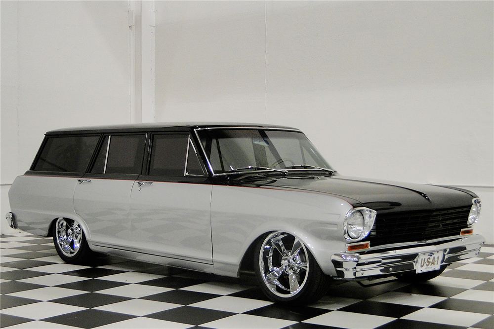 1964 Chevrolet Nova Custom Station Wagon 194204 Barrett Jackson Auction Company World S Greatest Collector C Chevy Nova Wagon Chevrolet Nova Station Wagon