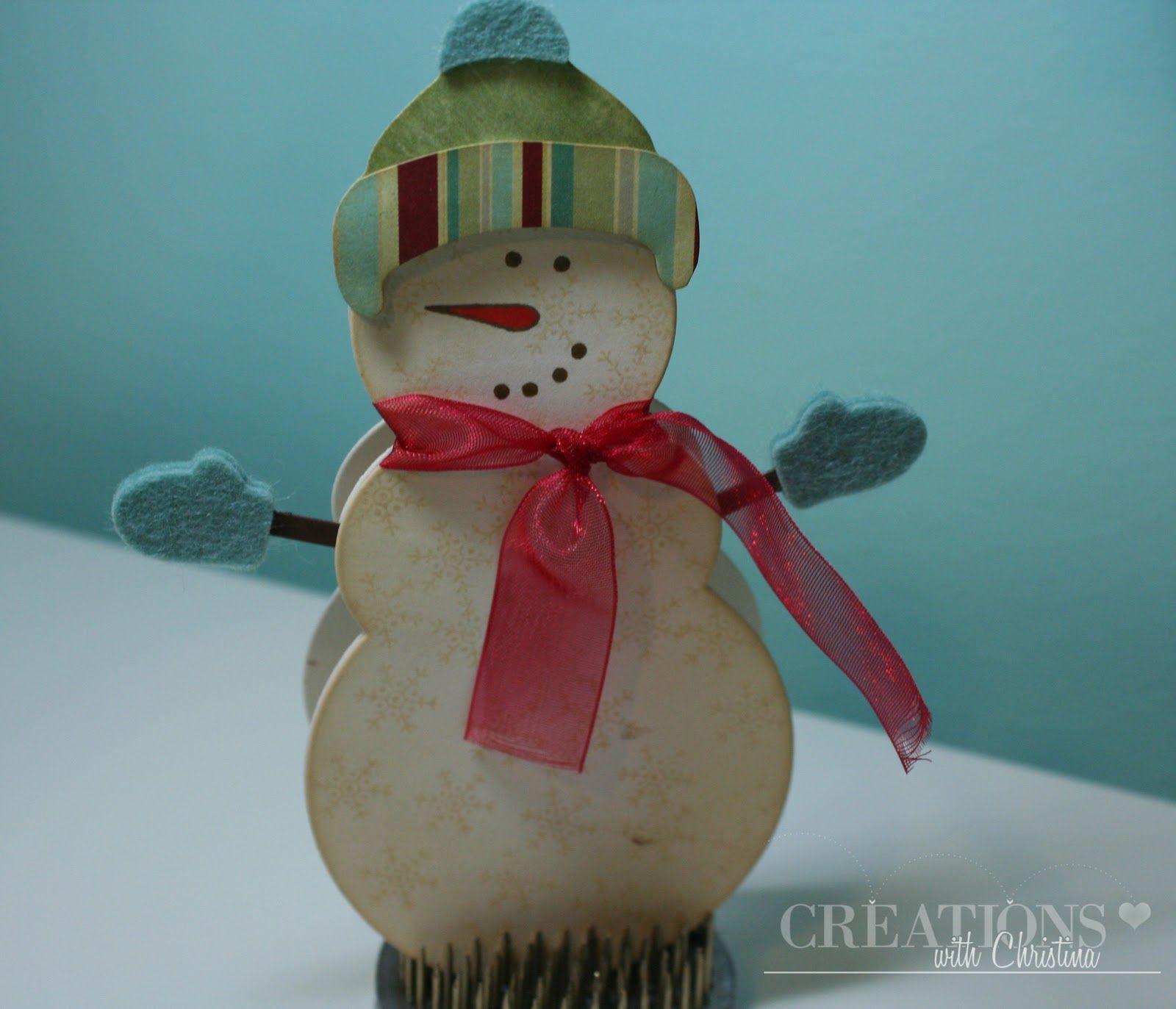 cute snowman card -via- Creations with Christina: October 2011