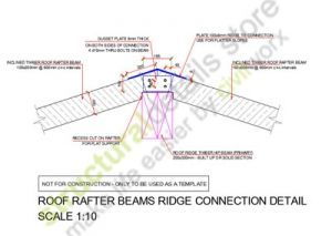 Roof Rafter Beams Ridge Connection Detail Roof Rafter Beams