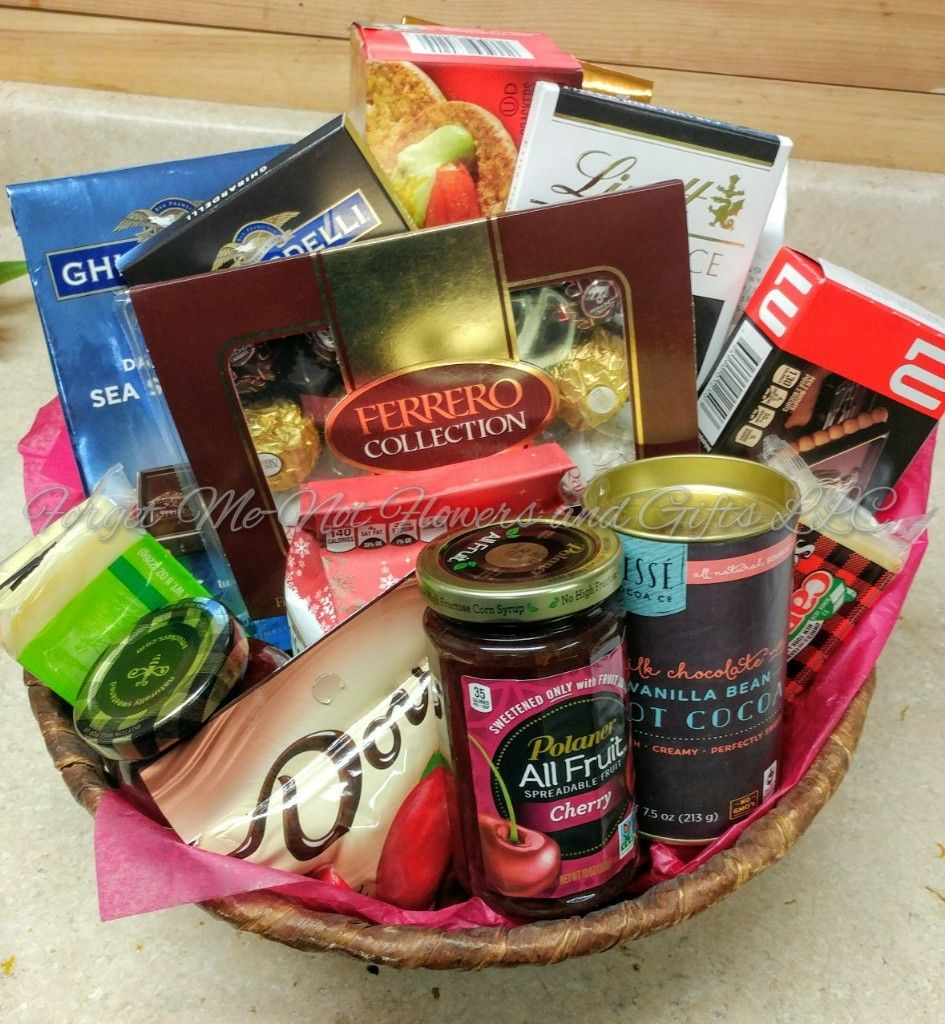 A gourmet gift basket of delicious treats by