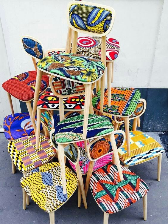 West African chair idea | African upholstery, Patterned ...