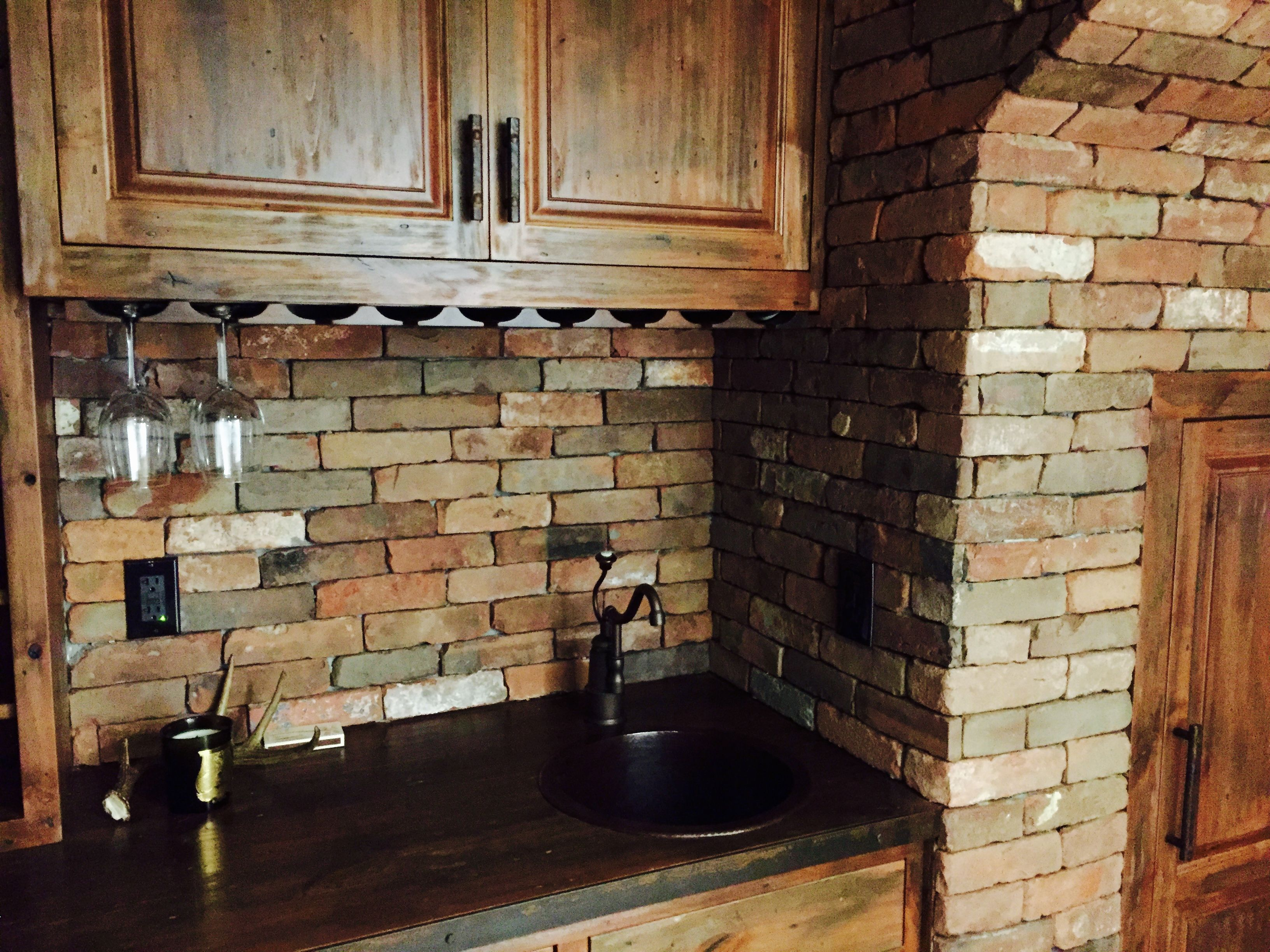 - Reclaimed Thin Brick Veneer - Thin Brick Veneer, Brick Backsplash