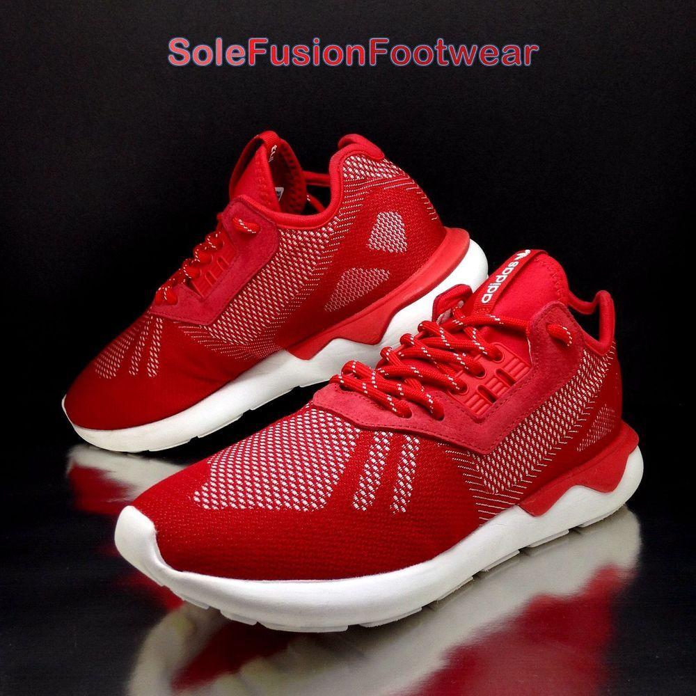 Adidas Uomo Red Tubulare Runner Tessere Formatori Red Uomo Sz In Scarpe Da Ginnastica 493013
