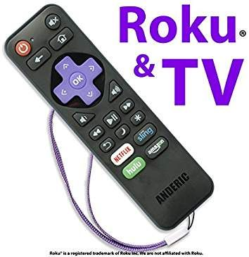 Anderic RRST01 Standard IR Roku Universal 2in1 Remote
