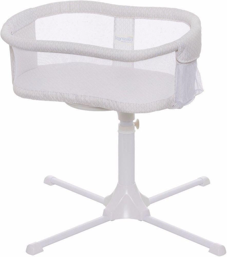 details about unique adjustable contemporary bassinet swivel  - unique adjustable contemporary bassinet swivel sleeper in white honeycomb  bassinet