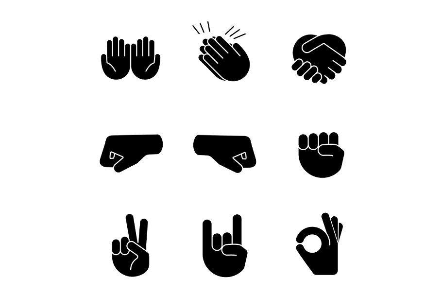 Raised Fist Emoji Glyph Icon Glyph Icon Hand Silhouette Raised Fist