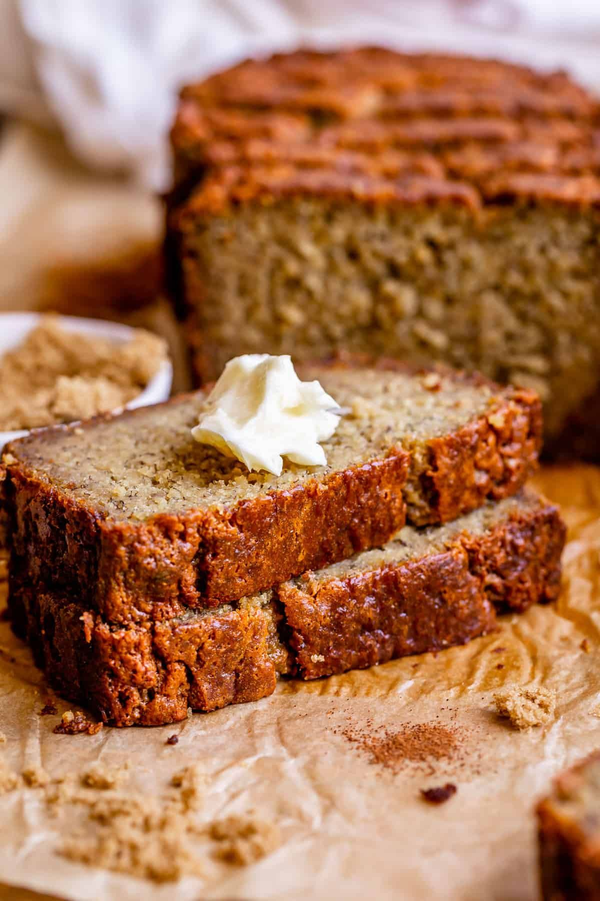 Moist Banana Bread With Sour Cream From The Food Charlatan The Moist Banana Bread R In 2020 Moist Banana Bread Banana Bread Recipe Easy Moist Super Moist Banana Bread