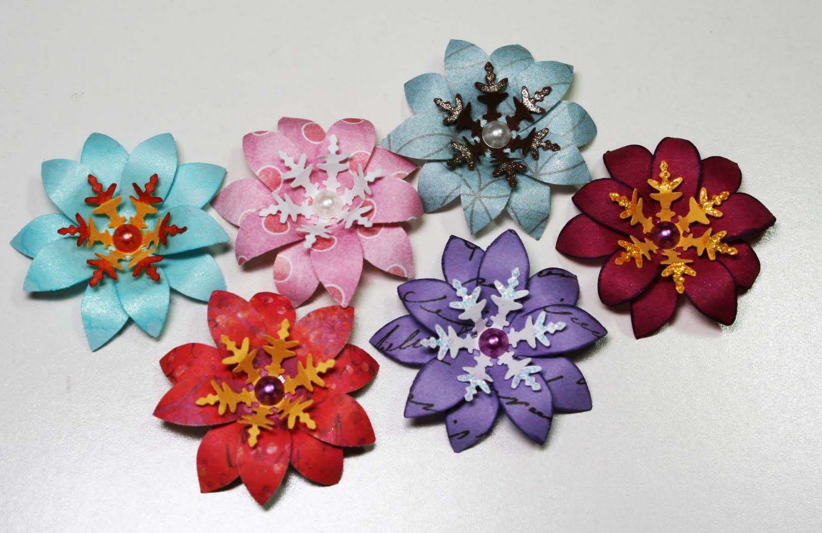 Ideas For Scrapbookers An Easy 5 Petal Flower To Make Scrapbook