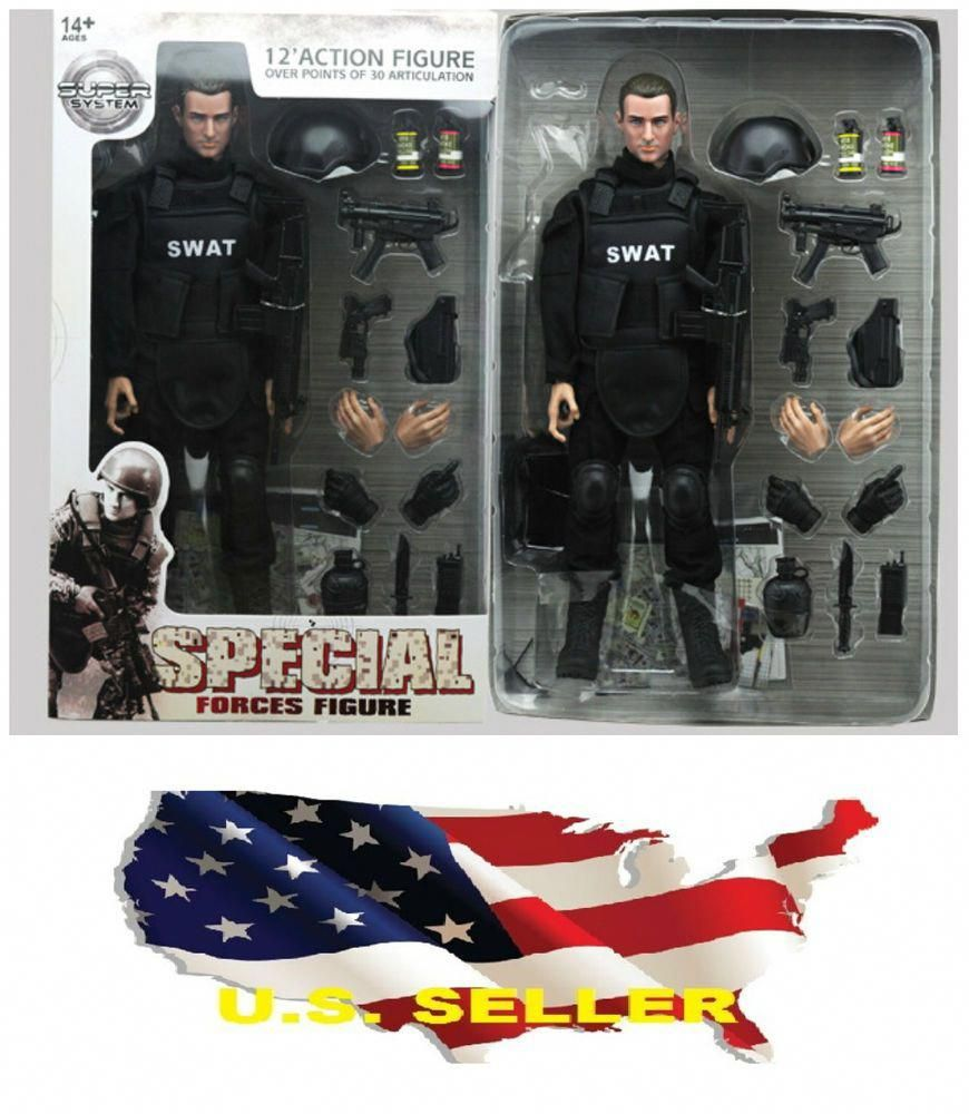 FAST SHIPPING 1//6 scale SWAT Police Soldier military combat suit Action Figure