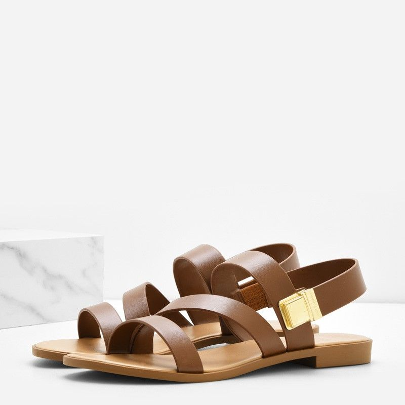 Strappy Open-Toe Sandals | CHARLES & KEITH