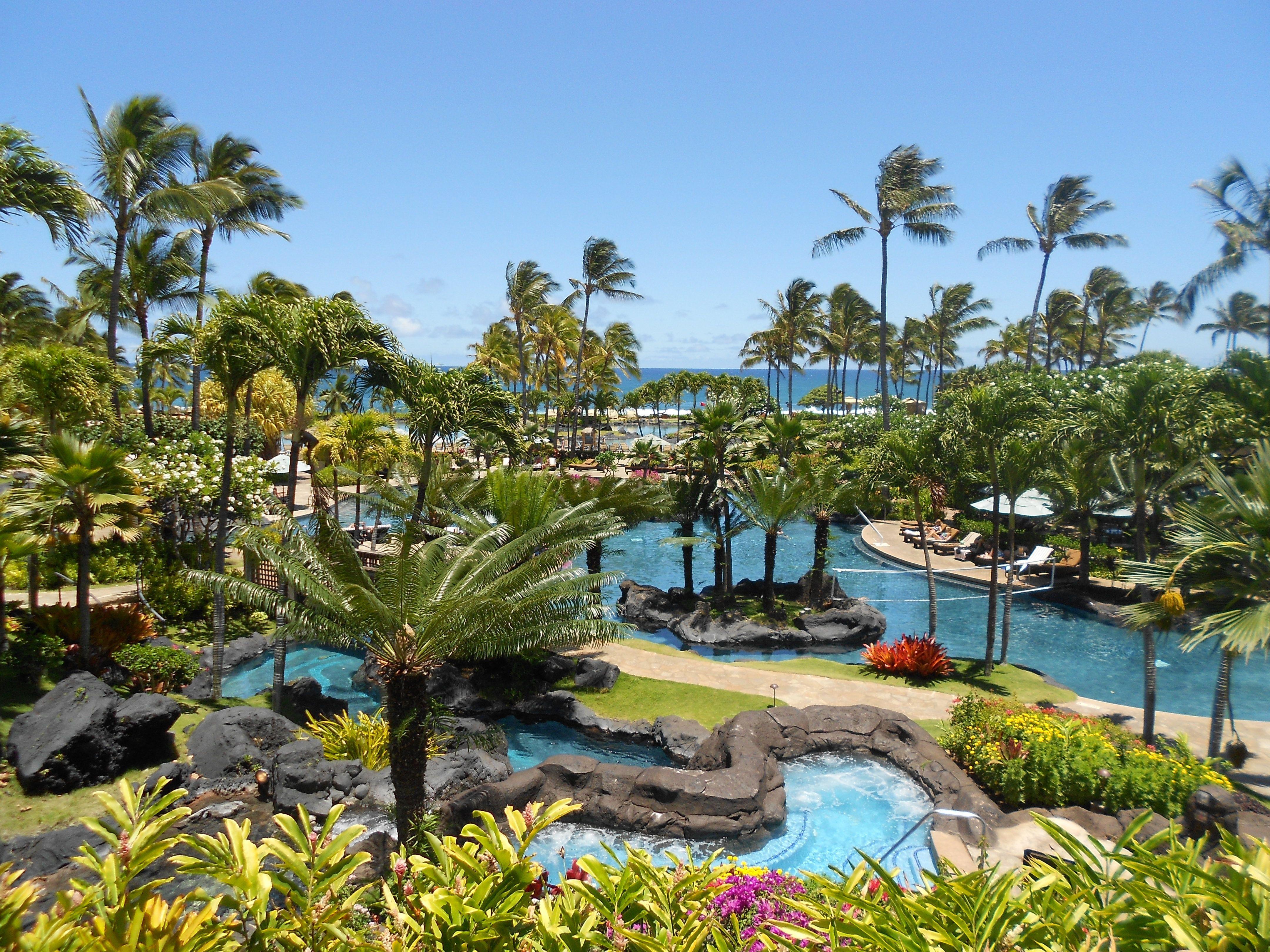 Resorts In Kauai Beach Resort The Grand Hyatt Poipu On Island Of Offers 6 Restaurants Lounges 24 Hr Room Service 2 Pools